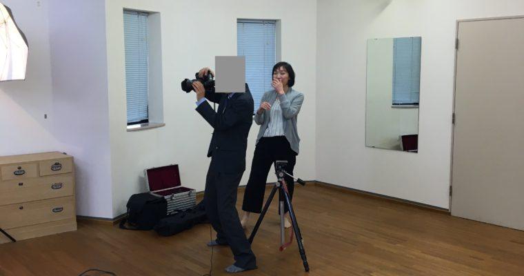 プロフ用ヘアセット&撮影に同行しました